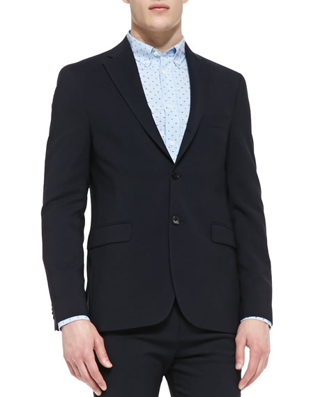 Drifter Two-Button Suit Jacket, Navy