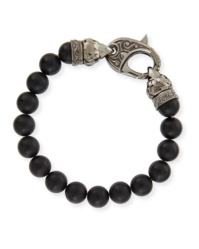 Stephen Webster Matte Beaded Bracelet, Black