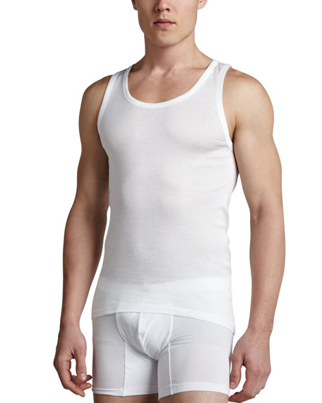 Hanro Cotton Pure Tank Top, White