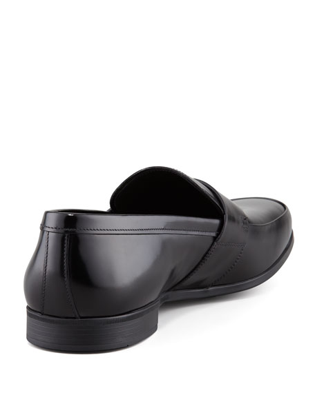 Leather Penny Loafer, Black