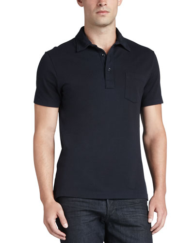 Patch-Pocket Polo, Navy
