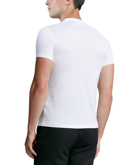Short-Sleeve V-Neck Jersey Tee