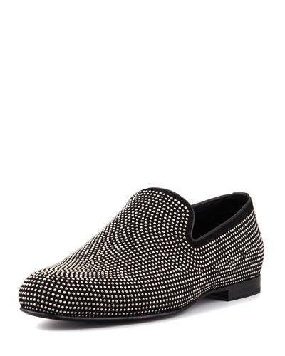 Sloan Men's Mini-Studded Loafer, Black