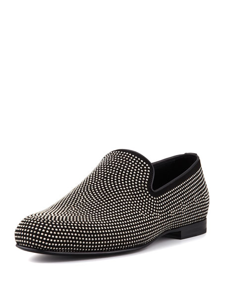 Sloan Men's Mini-Studded Loafer, Black