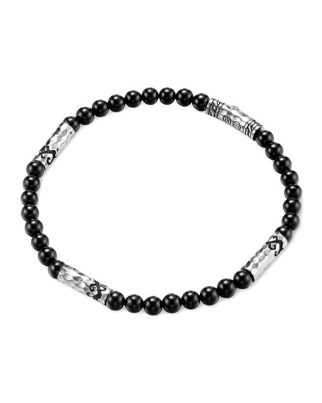 John Hardy Men's Batu Dayak Silver Bead Bracelet