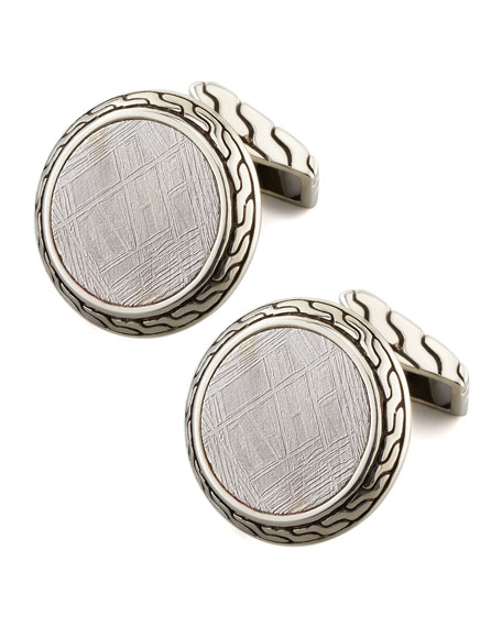 Batu Classic Chain Round Cuff Links