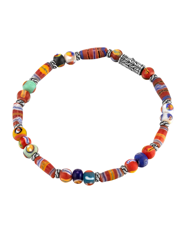 Clic Chain Silver Bracelet With Borneo Beads