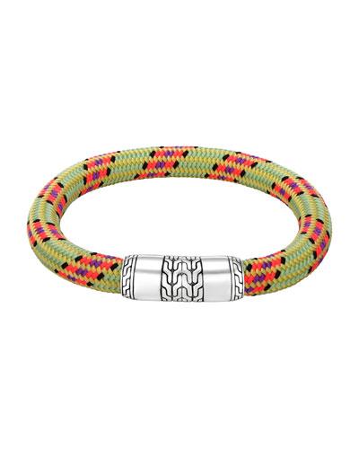 Men's Classic Chain Multicolor Cord Bracelet