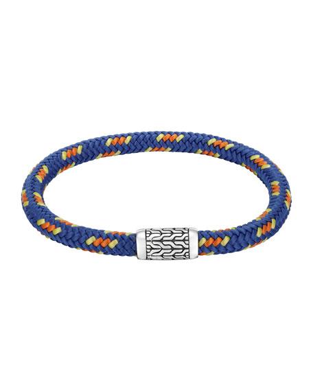 Men's Classic Chain Multicolor Cord Bracelet, Blue