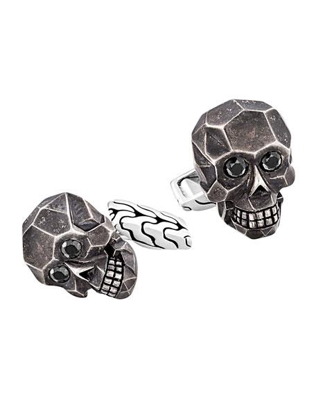 Classic Chain Skull Cuff Links