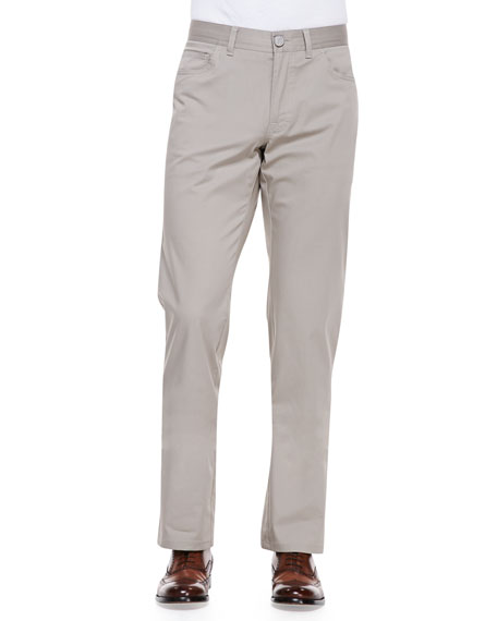 Brioni Stelvio Five-Pocket Pants, Beige