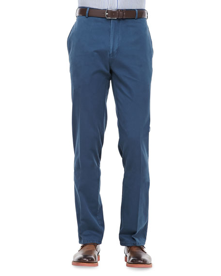 Washed Twill Pants, Navy