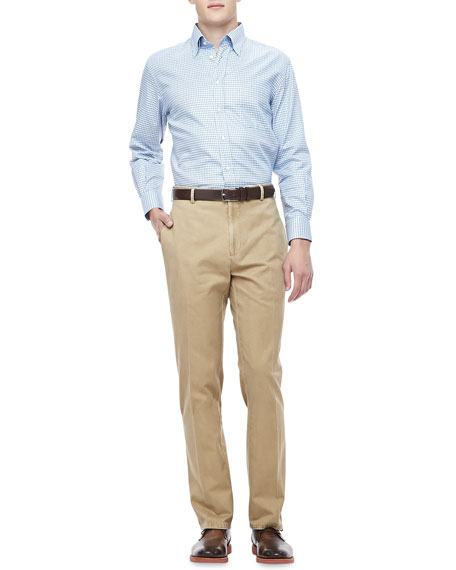 Washed Twill Pants, Tan