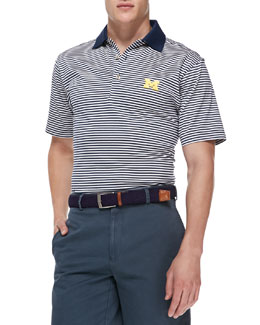 Peter Millar University of Michigan Gameday College Shirt Polo