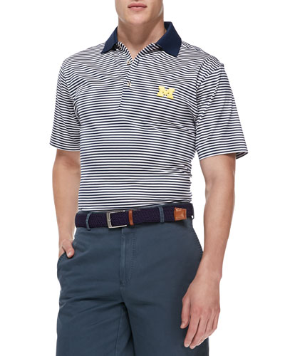 Peter Millar University of Michigan Gameday College Shirt Polo