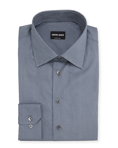 Textured Dress Shirt, Gray