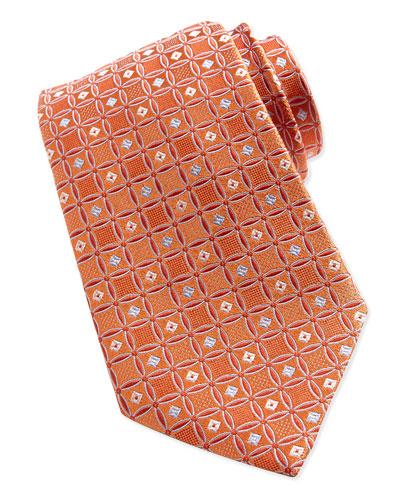 Fancy Box-Neat Tie, Orange
