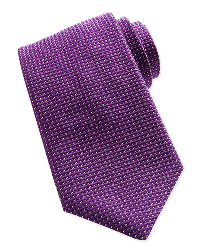 Textured Dot-Neat Tie, Purple