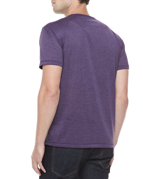 Burnout Pocket Tee, Dusty Violet