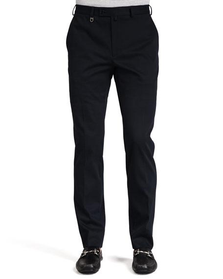 Cotton Gabardine Pants, Navy