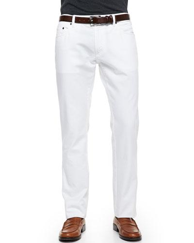 5-Pocket Denim Jeans, White