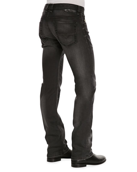 Safado Whiskered Jeans, Dark Gray