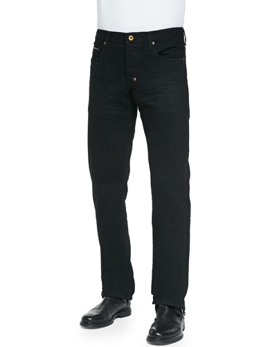 Barracuda Black Raw Jeans