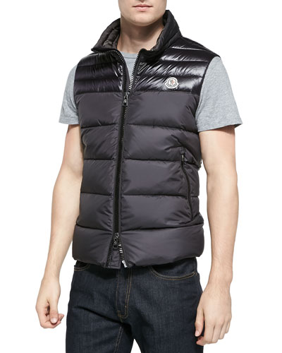 Dupres Quilted Puffer Vest, Black