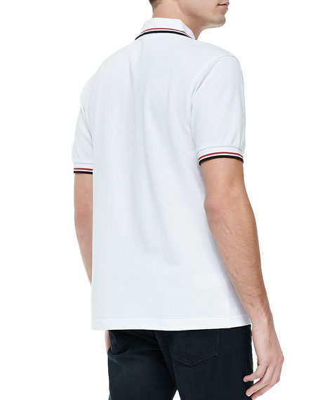 Fred Perry Twin-Tipped Polo Shirt, White/Red/Navy