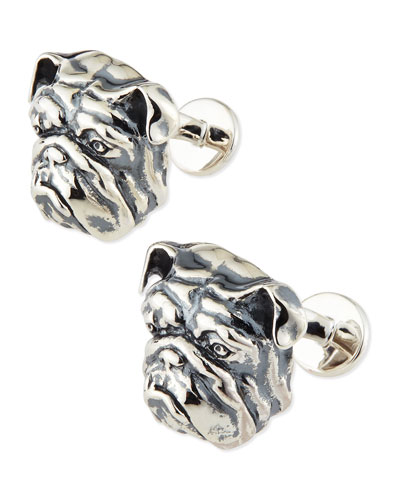 Stephen Webster Sterling Bulldog Cuff Links