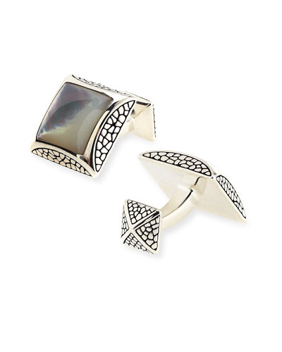 Stephen Webster Square Mother-of-Pearl Cuff Links