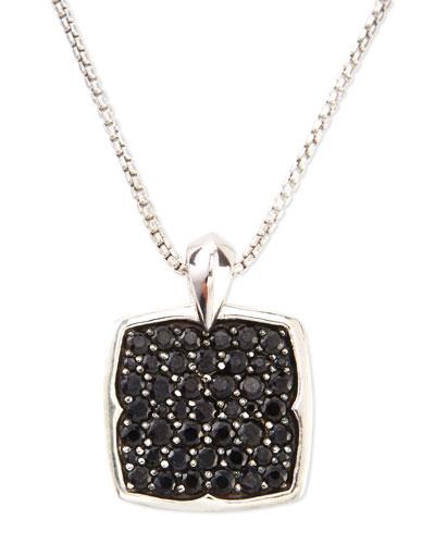 Black Sapphire Pendant Necklace