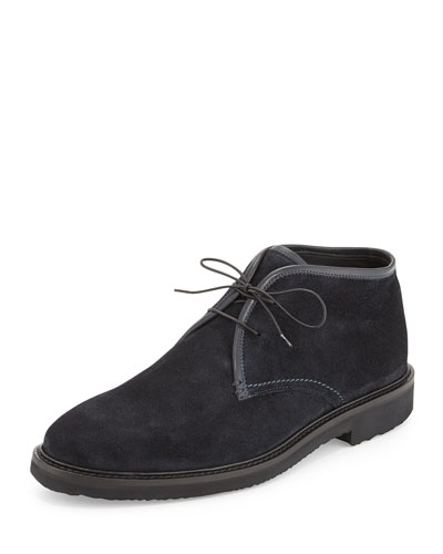 Suede Chukka Boot, Navy