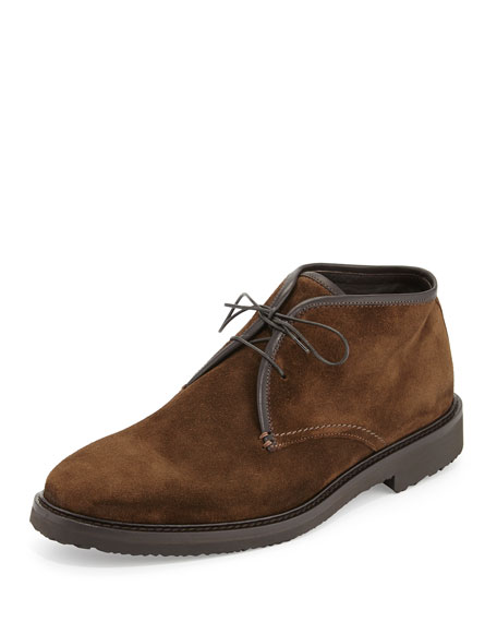Ermenegildo Zegna Suede Chukka Boot, Medium Brown