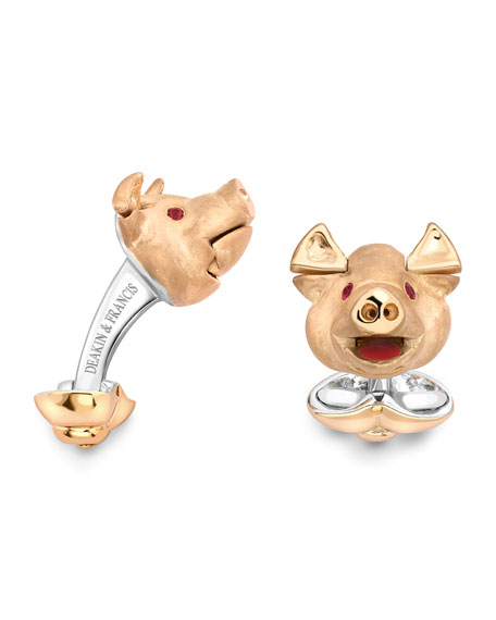 Deakin & Francis Pig Head Cuff Links