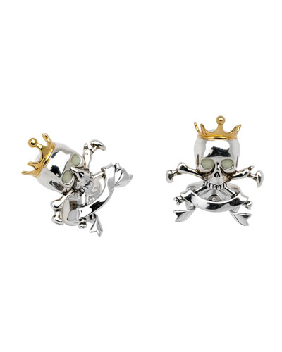 Skull & Crown Cuff Links