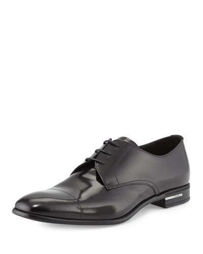 Prada Basic Cap-Toe Derby Shoe