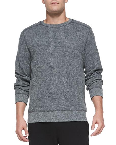 theory danen waffle knit shirt charcoal