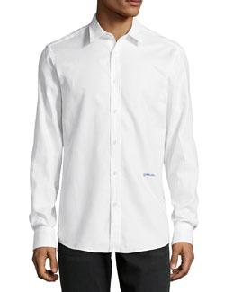 Long-Sleeve Dress Shirt, White