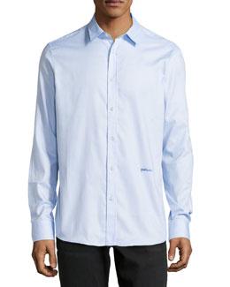 Long-Sleeve Dress Shirt, Light Blue