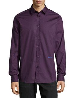 Long-Sleeve Dress Shirt, Plum