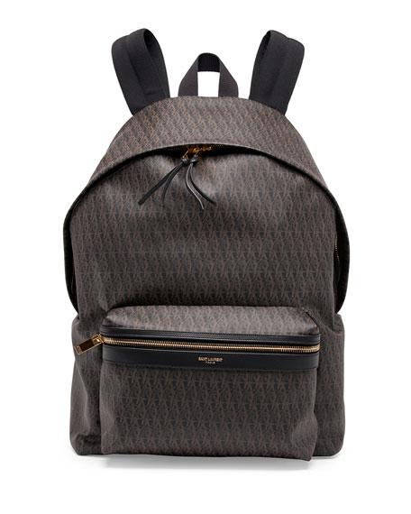 yves saint lauren wallet - Saint Laurent Men\u0026#39;s YSL Logo-Printed Leather Backpack, Black