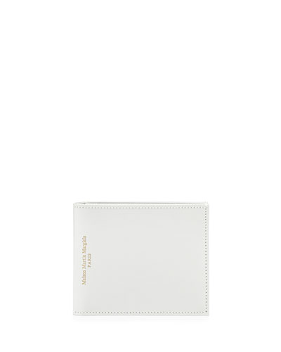 Varnished Leather Bi-Fold Wallet, White