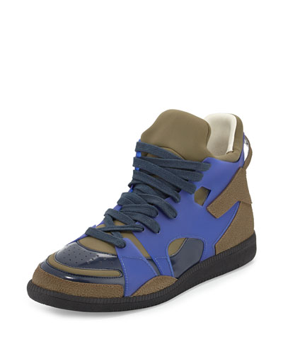 Neo Colorblock High-Top Sneaker, Blue/Black