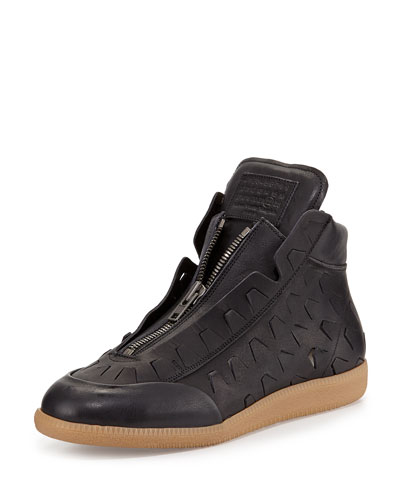 New Future Cutout Detail High-Top Sneaker, Nero