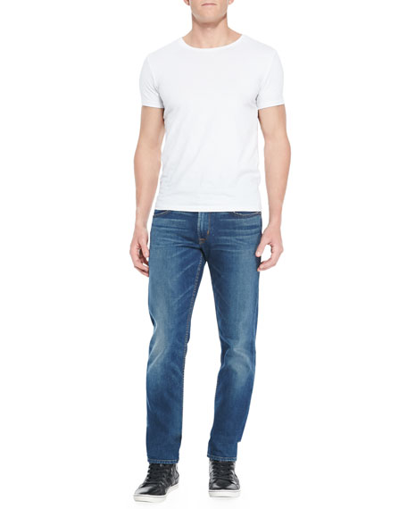 Blake Slim Straight Denim Jeans, Blue