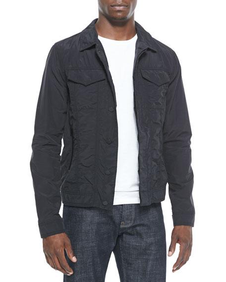 Nylon Trucker Jacket, Black