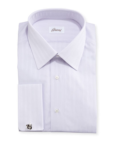 Tonal-Stripe French-Cuff Shirt