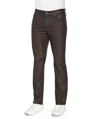 Brixton Harley Coated Jeans, Dark Brown