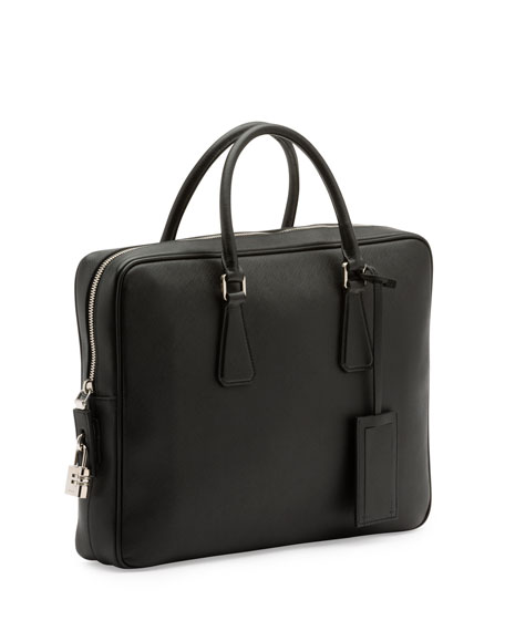 Prada Zip-around saffiano-leather briefcase Discount Many Kinds Of Sale Professional Marketable Cheap Really jlSACka